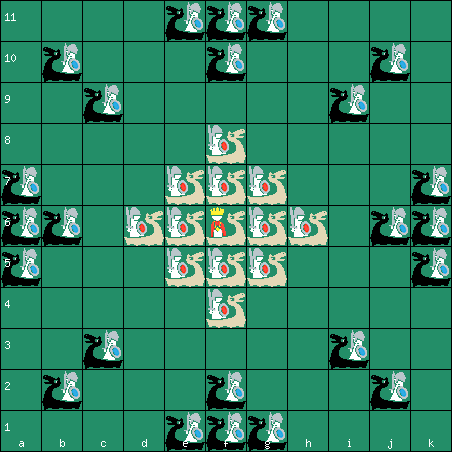 Sea Battle tafl 11x11 board