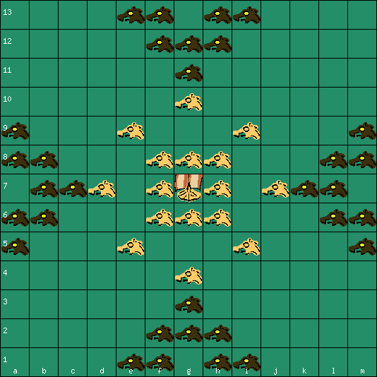 Sea Battle tafl 13x13 board