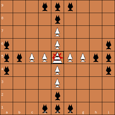 Saami Tablut 9x9 board